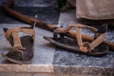 Ethiopian ethnic sandals in axum, tigray
