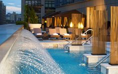 A rooftop pool overlooking one of the best neighborhoods in NYC - Soho! L Trump SoHo Rooftop Bars Nyc, Rooftop Pool, Outdoor Pool, Outdoor Spaces, Coast Hotels, Hotels And Resorts, Soho Hotel New York, Pet Resort, New York Photos