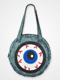 Vintage Eyeball Rivet Denim Bag