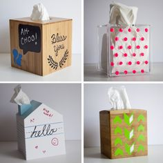 Easy Tissue Box cover Teacher gifts  - Get Well Soon gift