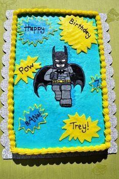 Lego batman cookie cake...