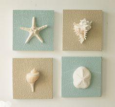 Beach Decor on Driftwood Panel for Coastal Wall Decor (Guest Room)