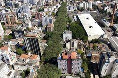 Rua Goncalo de Carvalho, trees, nature, city, urban planning, Brazil, Porto Alegre, green design, sustainable design, urban design, green architecture, green cities, green urban planning
