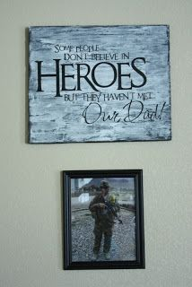 DIY sign with quote. Great quote for war heroes, military veterans, memorial day, families of military members, etc