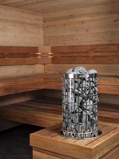 The Harvia Cilindro electric heater contains a massive amount of stones. Cilindro is impressive to both look at and experience. Harvia Cilindro electric heater's massive sauna stone amount provides enjoyable sauna bath. Diy Sauna, Sauna Ideas, Sauna Lights, Portable Steam Sauna, Sauna Heater, Finnish Sauna, Window Detail, Sauna Room, Plywood Furniture