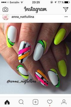 Nails Design Stiletto Neon Ideas For 2019 – neon nail art Neon Nail Art, Neon Nails, My Nails, Yellow Nails Design, Yellow Nail Art, Trendy Nails, Cute Nails, Manicure, Nagellack Design