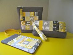 cute zip bags, some placemats, and other small projects