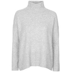 Topshop Oversize Funnel Neck Sweater ($70) ❤ liked on Polyvore featuring tops, sweaters, acrylic sweater, long sleeve tops, long sleeve sweaters, funnel neck top and over sized sweaters