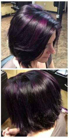 Purple highlights, want my hair to look just like this!