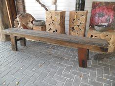 stoere houten bank | Schouten Tuincreaties