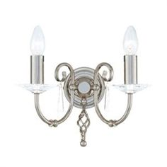 awesome Elstead - Aegean Double Arm Polished Nickel Wall Light