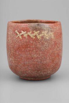 Raku Chônyû, Japan, ca. Raku Pottery, Slab Pottery, Japanese Ceramics, Japanese Pottery, Ceramic Clay, Ceramic Bowls, Sculpture Clay, Ceramic Sculptures, Matcha