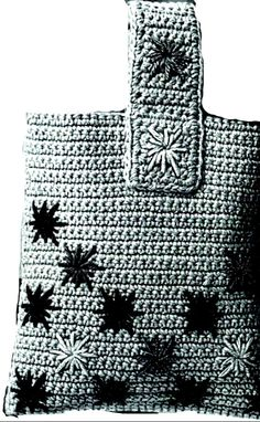 Crochet Tote Pattern Large Tote Pattern Large Tote Bag Flower Tote Bag Crochet Pattern Vintage retro Pattern PDF Instant Download