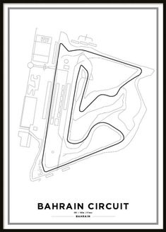 Bahrain International Circuit Formula 1 Race Track Print | F1 Prints Online