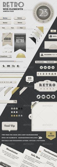 Retro Web Elements - Bumper Pack  - $6