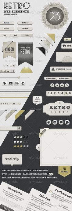 Retro Web Elements - Bumper Pack $6.00