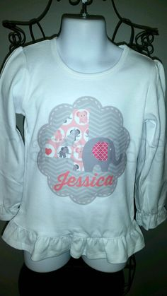 Items similar to Pink and gray birthday elephant number Shirt or Bodysuit Elephant birthday party,girls birthday shirt, elephant birthday shirt, elephant tee on Etsy Elephant Party, Elephant Birthday, 6 Mo, Pink Grey, Gray, Hoodies, Sweatshirts, Bodysuit, Trending Outfits