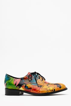 New must have shoe: Daltrey Floral Oxford  #ShoeAddict @nastygirl @jcshoes