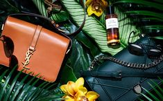 Accessories Bags Tropical Still Life Photography, photographed by Still Life Photographer Daniel Lindh