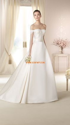 Court Train Appliques Zipper Wedding Dresses 2015