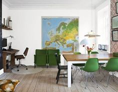 I love the giant wall map.  In fact, I already own the map - I just need the house in which to put it.