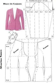 Sewing Patterns - Coat Patterns - Jacket Patterns - Bolero Pattern - Skirt Patterns - Blazer Pattern - Sewing Tutorials - Sewing E-book Coat Patterns, Dress Sewing Patterns, Clothing Patterns, Pattern Sewing, Vogue Patterns, Blazer Pattern, Jacket Pattern, Jumpsuit Pattern, Sewing Clothes Women