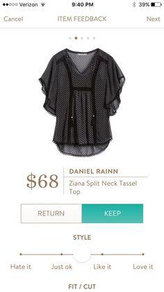 Daniel Rainn Ziana Split Neck Tassel Top Stitch Fix I love this top. I think it would be great with black skinny jeans. https://www.stitchfix.com/referral/5374454