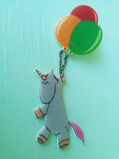 Unicorn Crafts — Unicorn Balloon Brooch