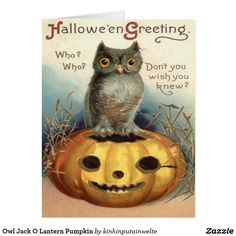 Vintage postcard/ Owl & Pumpkin I found it interesting what is written in the margins has nothing to do with Halloween. Not to my knowledge any how. Image Halloween, Halloween Owl, Halloween Pictures, Holidays Halloween, Happy Halloween, Halloween Decorations, Halloween Prints, Halloween Canvas, Whimsical Halloween