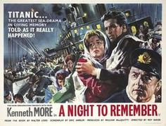 Poster for Titanic film a night to remember