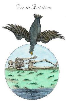 """Cuando uno comienza a desintegrar los elementos inhumanos que se han posesionado del Cuerpo Astral, ellos toman un color NEGRO y están simbolizados en la Alquimia por el cuervo negro  Tal color Negro es el basamento, el fundamento de toda transmutación; por eso se dice que """"hay que blanquear el cuervo""""..."""