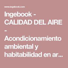 Ingebook - CALIDAD DEL AIRE - Acondicionamiento ambiental y habitabilidad en arquitectura