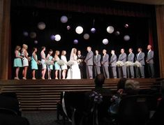 Wedding ceremony at the Lancaster Theatre in Grapevine / wedding reception venue / all-inclusive wedding packages