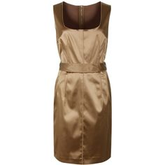 Dolce & Gabbana Gold Satin Belt Dress found on Polyvore