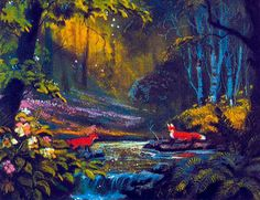 Disney Concept Art - The Fox and The Hound