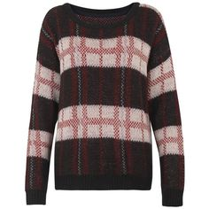 Primark AW12 Check Jumper, 12 ❤ liked on Polyvore featuring tops, sweaters, checkered top, jumper top, checkered sweater and jumpers sweaters