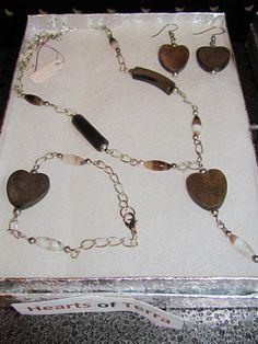 Local Artists - U.BE.U. FASHION  Hearts of Terra Set $35.00  #localartist #Jewelry