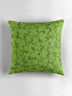 """""""Clover Illustration"""" Throw Pillows by ZaryaKiqo 