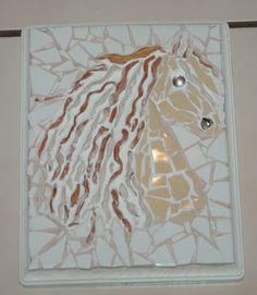 Mosaic - Horse Head w/polymer clay mane