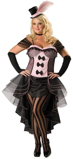 Burlesque Babe Adult Plus Costume from BuyCostumes.com
