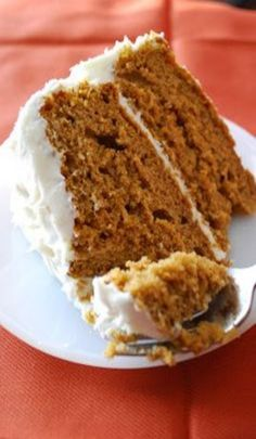 Bake. Frost. Repeat.: Pumpkin Spice Cake with Cream Cheese Frosting