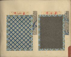 Japanese album with 100 examples of stencilled (katazome) textile komon patterns mounted on 50 pages. ca. 1880-1900. 18,5x25,5 cm. Fine cond...