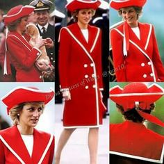 April, 1989: Princess Diana attended a parade at the Britannia Royal Naval Military College in Dartmouth, Devon.