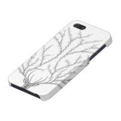 Cute and Elegant Iphone 5 Case for Girls Flower Deer / Funda ó carcasa para Iphone 5 Ciervo Florido / Gifts for Deer Hunters / Gifts for Deer Lovers