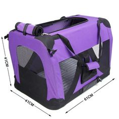 "ATC The Ideal Pet Soft Crate / Carrier for Travel, Indoor and Outdoor Purple Portable Pet Dog Cat House Soft Crate Carrier Cage Kennel (Small:24""x16""x16"") - http://www.thepuppy.org/atc-the-ideal-pet-soft-crate-carrier-for-travel-indoor-and-outdoor-purple-portable-pet-dog-cat-house-soft-crate-carrier-cage-kennel-small24x16x16/"