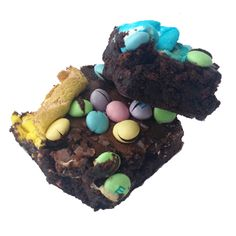 Brownies + M&M'S + Peeps = the ultimate #Easter treat.