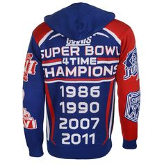 New York Giants Super Bowl Commemorative Acrylic Hoody - 4