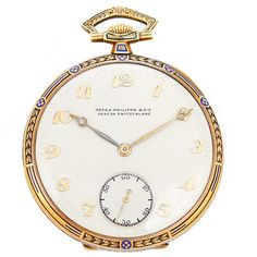 Patek Philippe Yellow Gold Manual Wind Triple Signed Pocket Watch | 1stdibs #FathersDay