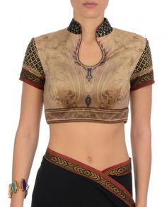 Beige Jamewar Saree - Saris - Apparel