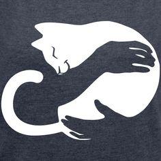 CatHug & Frauen T-Shirt mit gerollten Ärmeln & Frauen T-Shirt mit gerollten Ärmeln CatHug & Women& Roll-On T-Shirt & Women& T-shirt with rolled-up sleeves The post CatHug & Women& T-Shirt with Rolled Sleeves Cat Hug, Image Chat, Cat Quilt, Cat Silhouette, Cat Drawing, T Shirt Diy, Cat Design, T Shirts With Sayings, Cat Gifts